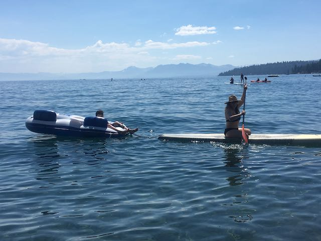 SUP Kayak Float Lake Tahoe