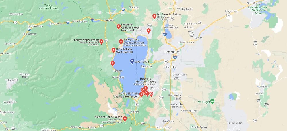 Ski Resort Guide | Lake Tahoe – California – Nevada