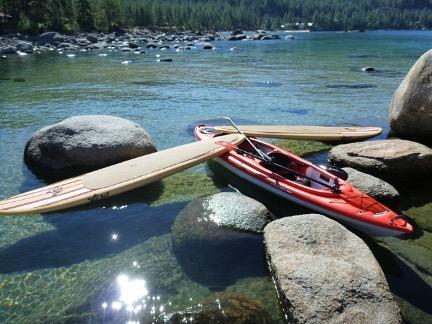 Tahoe rocks kayak SUP SLT